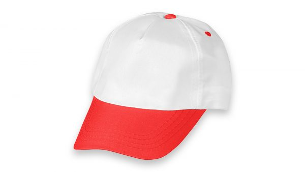 Polyester Şapka Beyaz Kırmızı