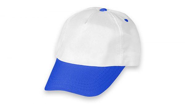 Polyester Şapka Beyaz Saks Mavi