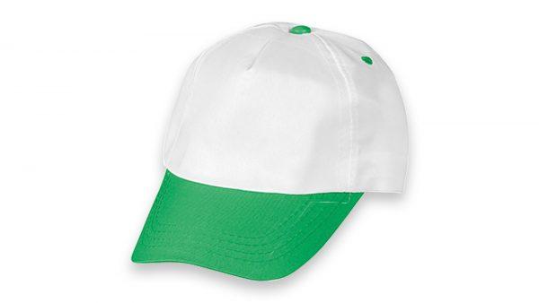 Polyester Şapka Beyaz Yeşil